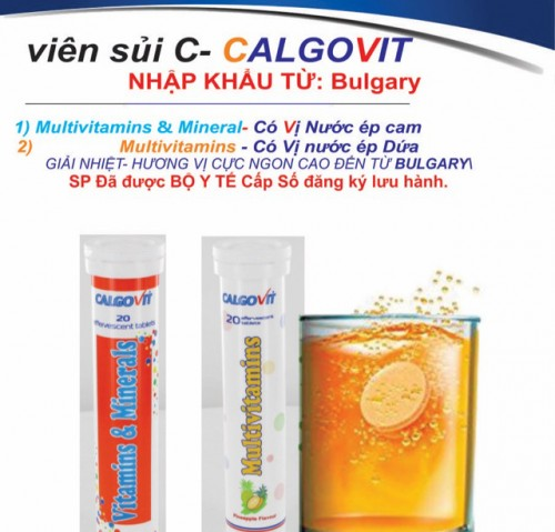 Calgovit Sủi (Vị cam và vị dứa) + Vitamin C